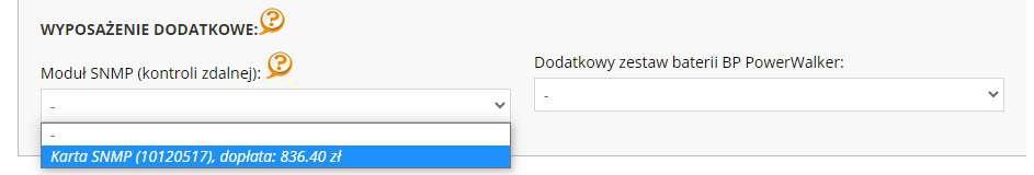 Jaki wybrać moduł kontroli prze internet snmp do ups power walker