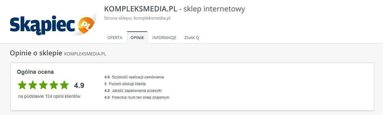 Opinie o Kompleksmedia.pl na Skapiec.pl