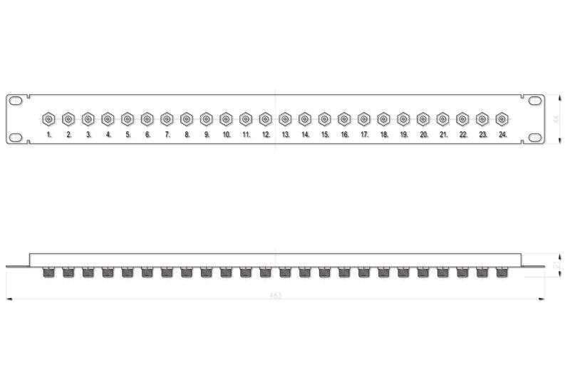 Wymiary patch panela F R9120312 SIGNAL
