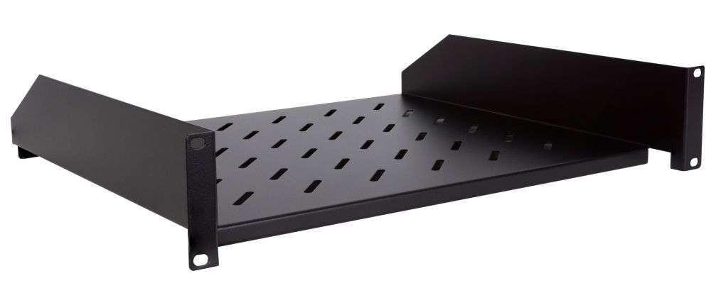 2U / 430mm - Uniwersalna półka CFF80-1.5-A LINKBASIC czarna RAL9004