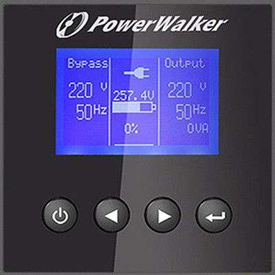 PowerWalker VFI 10000 P/RT HID wyświetlacz LCD