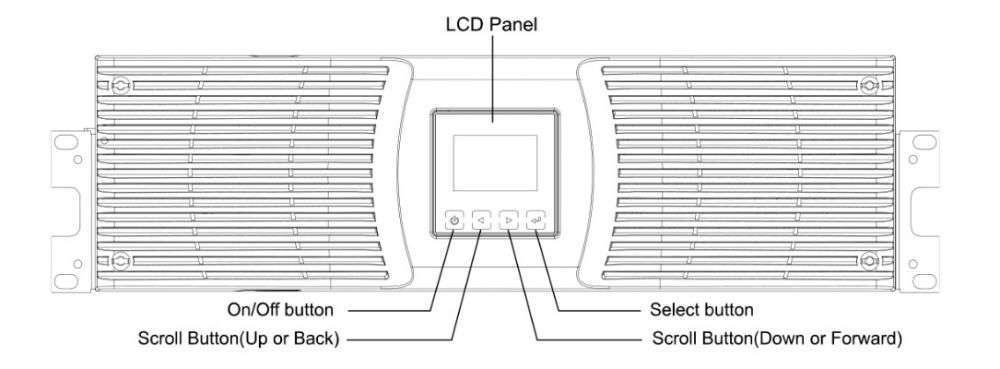 PowerWalker VFI 6000 P/RT HID wyświetlacz LCD