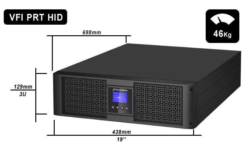 VFI 6000 PRT HID PowerWalker wymiary i waga