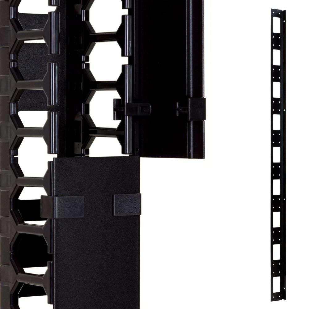 Organizer kabli 37U pionowy CFK02-37-A Linkbasic czarny RAL9004