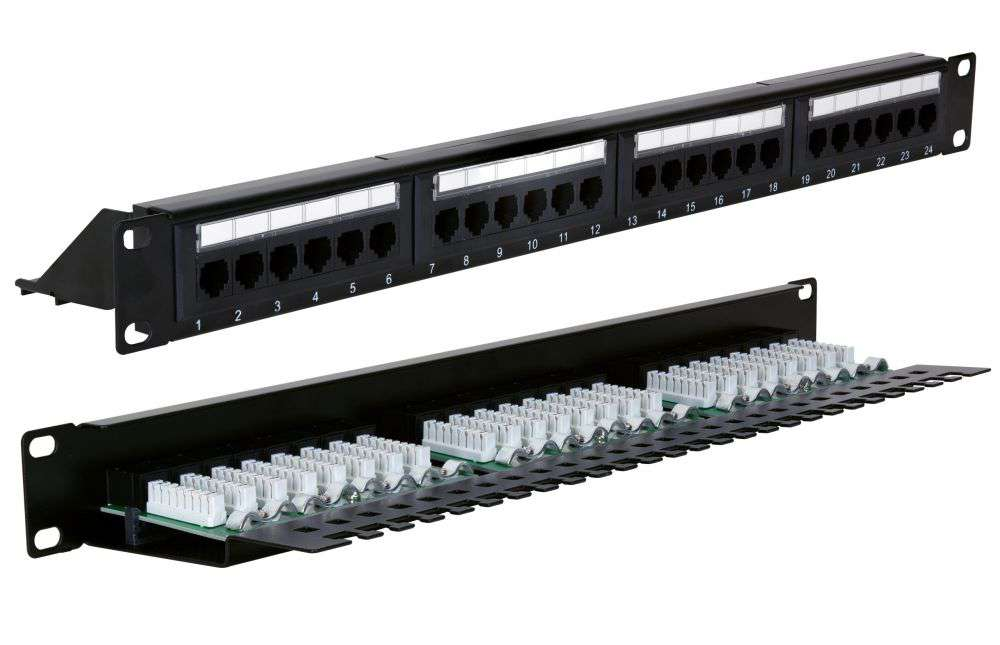 24 portowy nieekranowany patch panel UTP Cat.5e STLPP24UC5E-F START.LAN