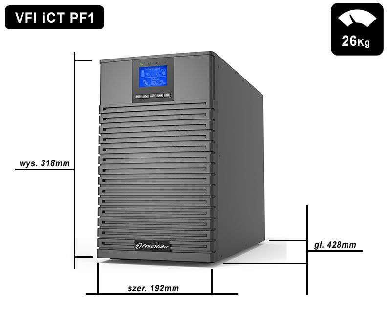VFI 2000 iCT IoT PowerWalker wymiary i waga