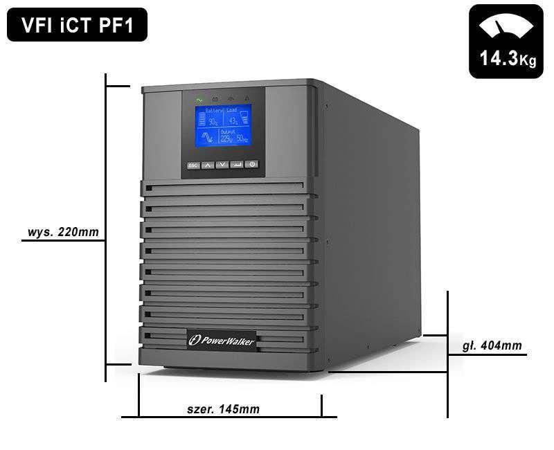VFI 1500 iCT IoT PowerWalker wymiary i waga