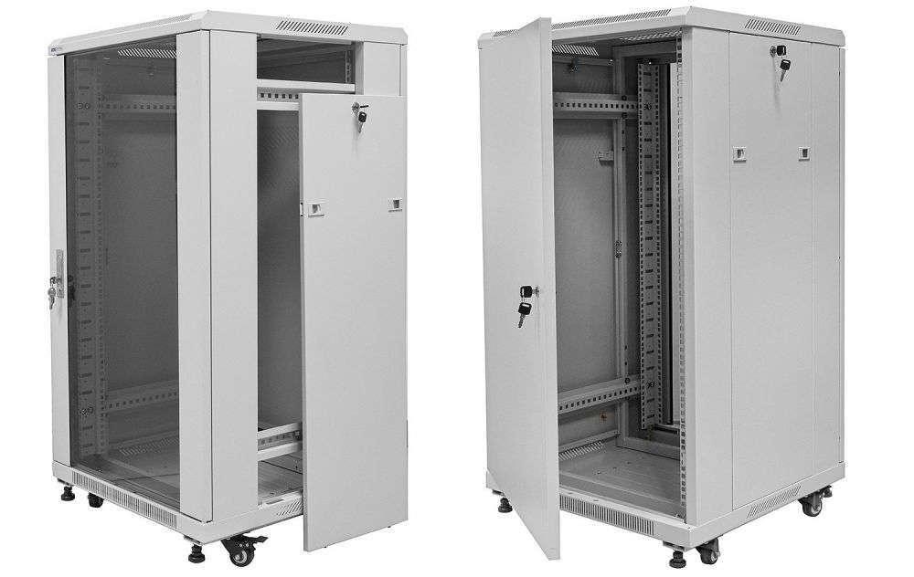 """Szafa 19"""" 27U / 800x800mm RACK SYSTEMS S8827W serwerowa"""