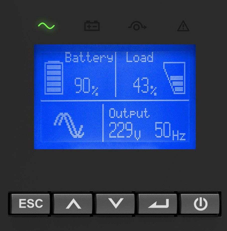 wyświetlacz LCD dla UPS VFI iCT iCR IoT PowerWalker