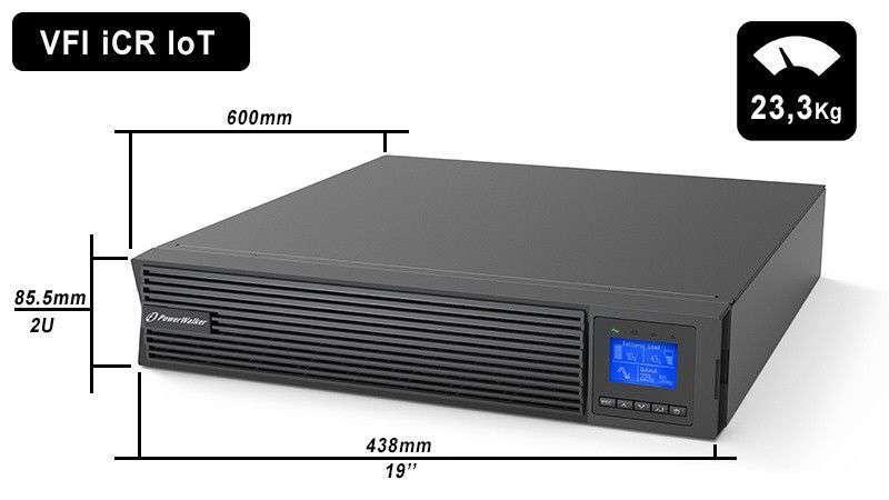 VFI 2000 iCR IoT PowerWalker wymiary i waga