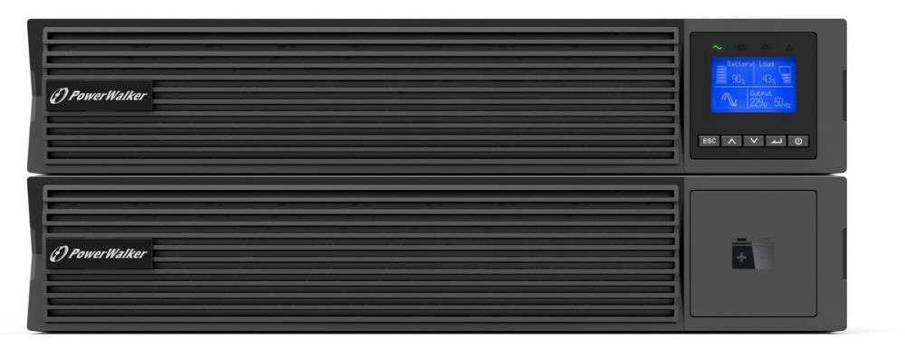 Zasilacz UPS online 1500VA/1500kW VFI 1500 ICR IoT PF1 PowerWalker RACK 19