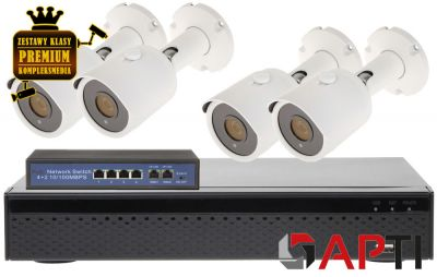 Zestaw monitoringu APTI IP 8MPX IR20 UltraHD 4K 2160p SONY Starvis
