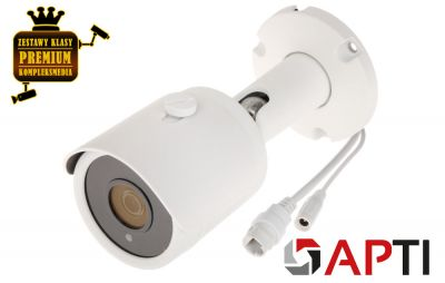 4x Kamera IP tubowa mini BULLET (8MPX)