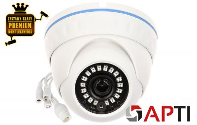 4x Kamera IP kopułowa DOME (8MPX)