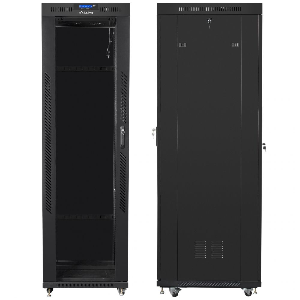 "Szafa Rack 19"" 42U 600x800 Lanberg FF01-6842-12BL z termostatem"