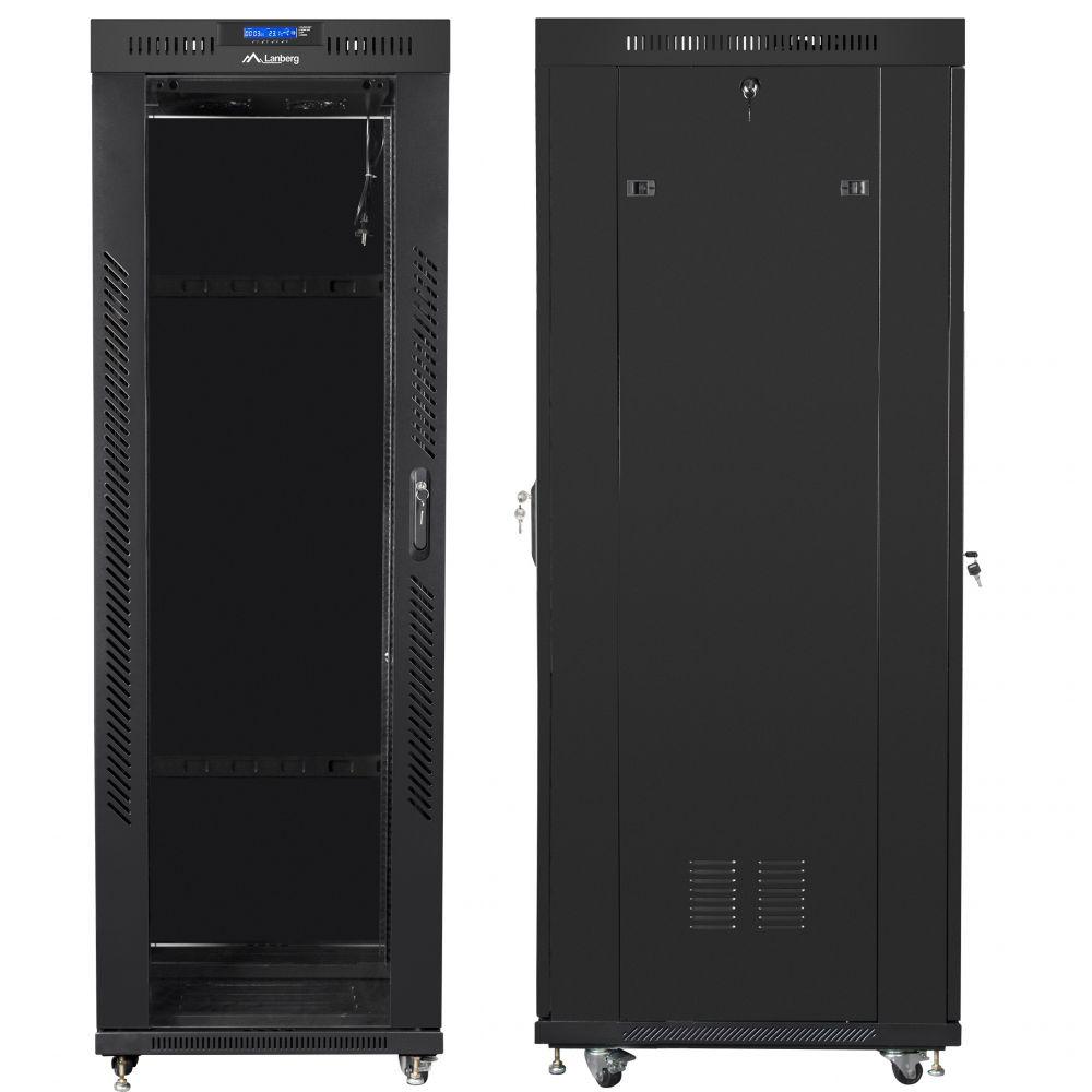 "Szafa Rack 19"" 37U 600x800 Lanberg FF01-6837-12BL z termostatem"