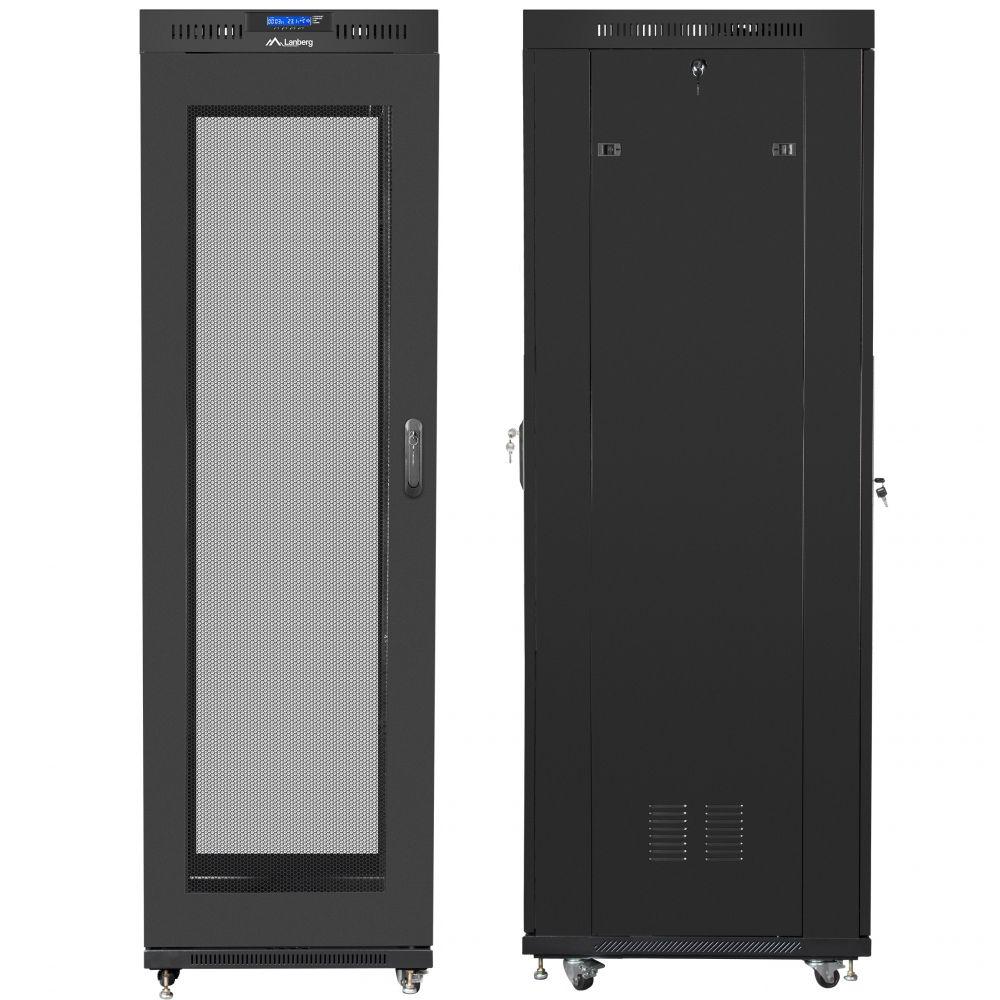 "Szafa Rack 19"" 42U 600x800 Lanberg FF01-6842-23BL z termostatem"
