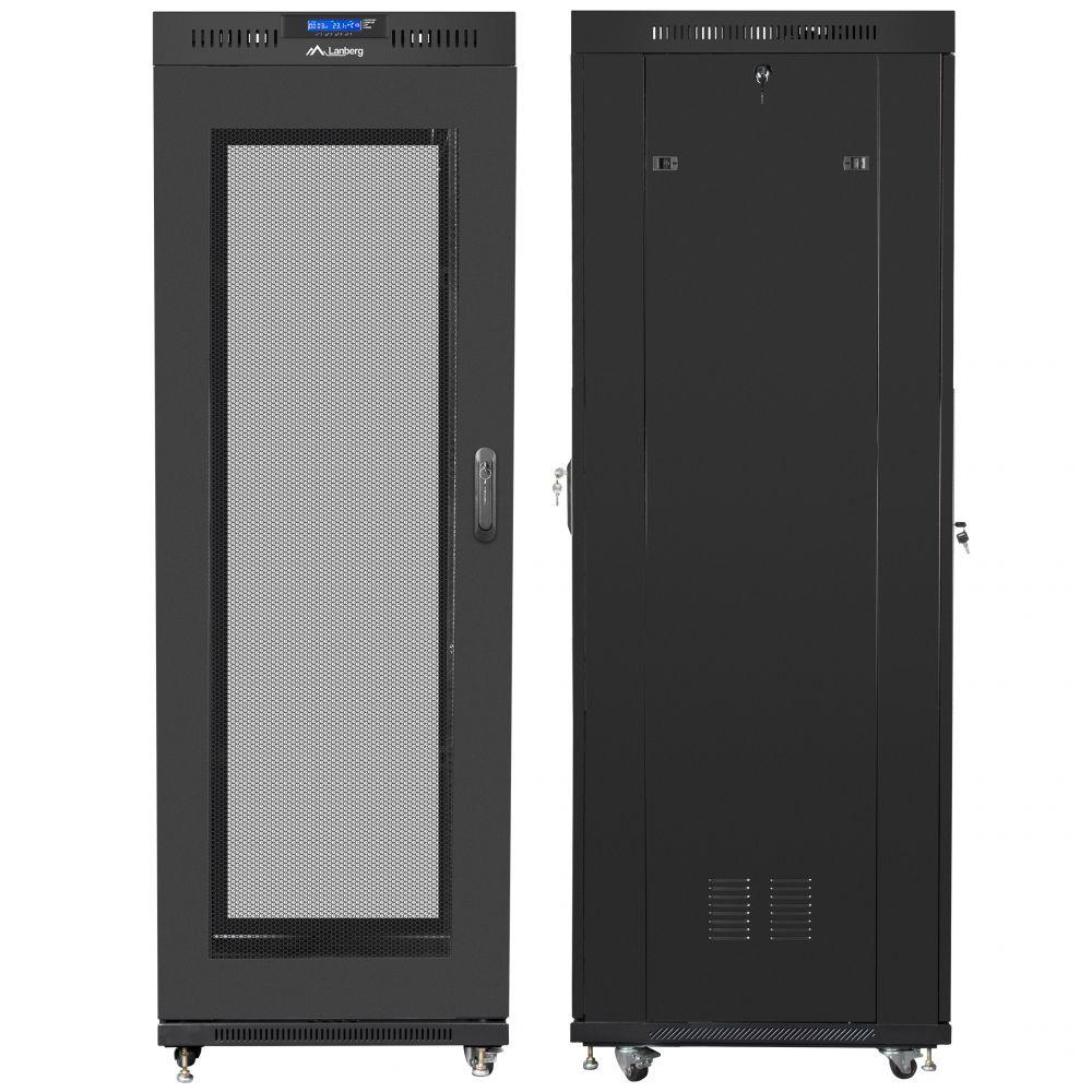 "Szafa Rack 19"" 37U 600x800 Lanberg FF01-6837-23BL z termostatem"