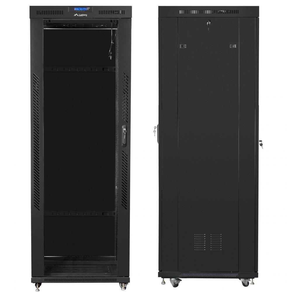 "Szafa Rack 19"" 42U 800x800 Lanberg FF01-8842-12BL z termostatem"