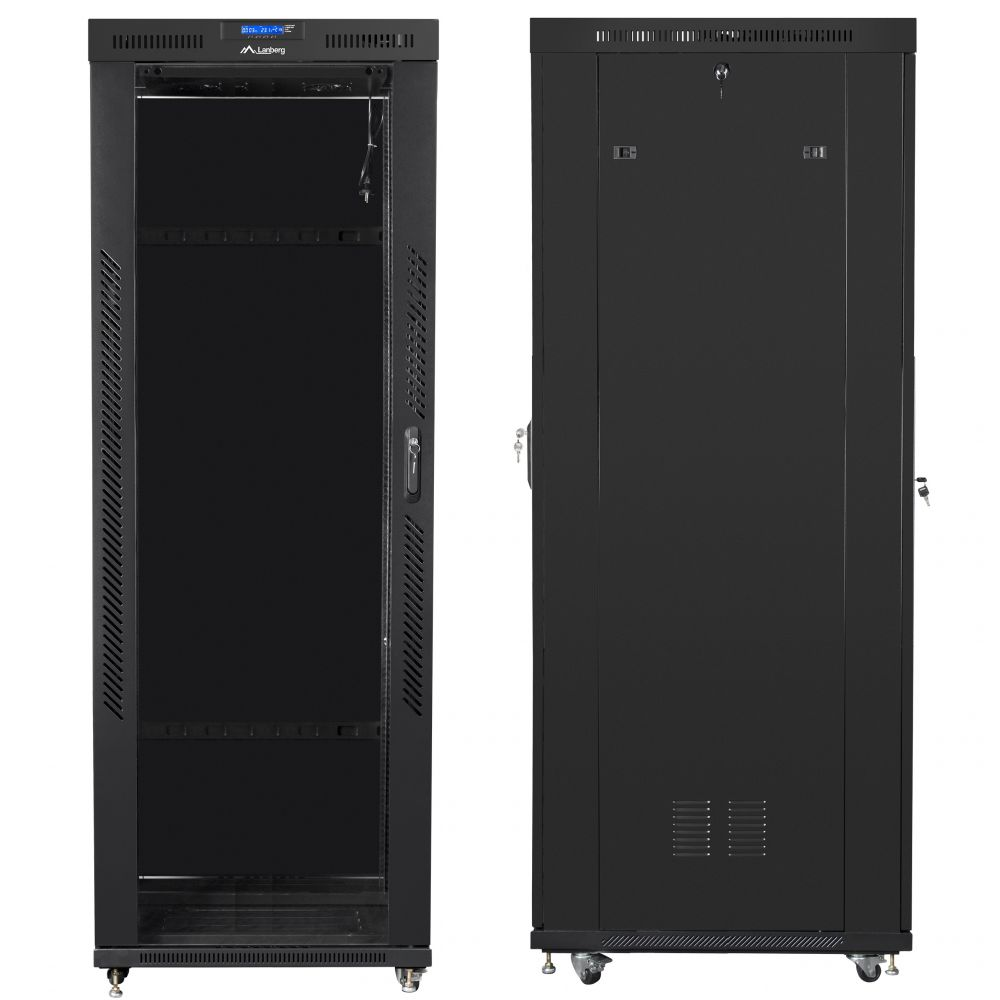 "Szafa Rack 19"" 42U 800x1000 Lanberg FF01-8042-12BL z termostatem"