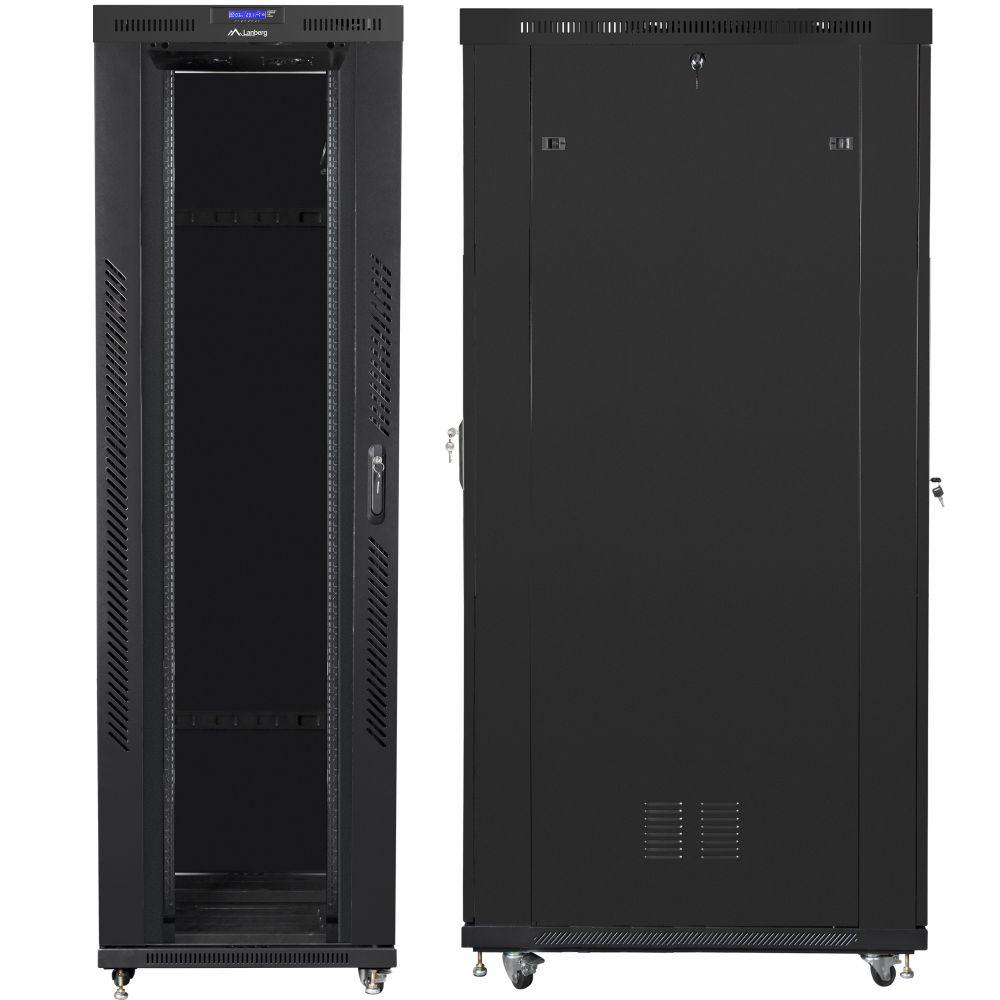 "Szafa Rack 19"" 42U 800x1200 Lanberg FF01-8242-12BL z termostatem"