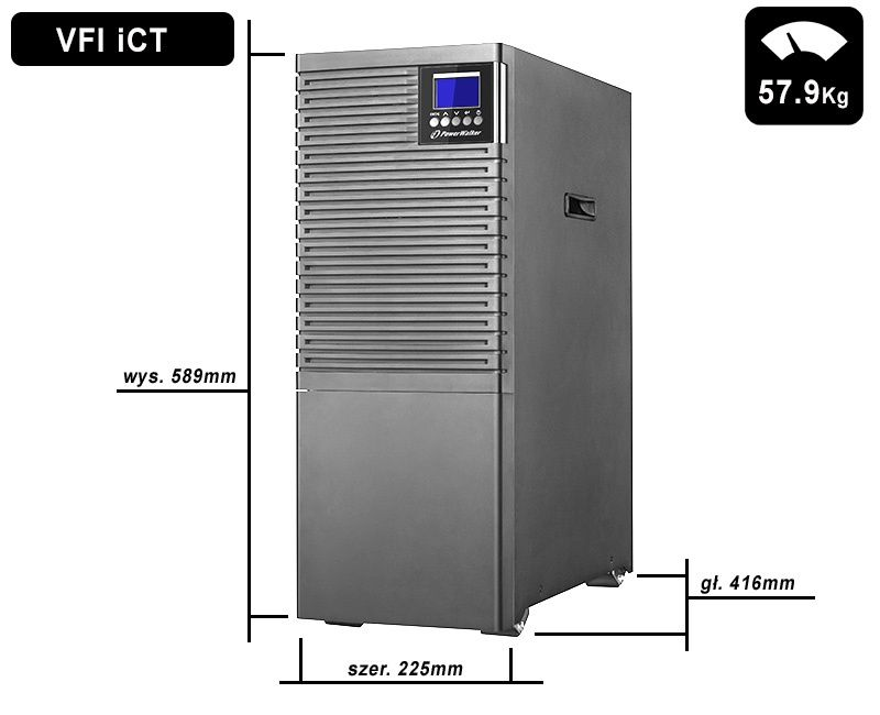 VFI 6000 iCT IoT PowerWalker wymiary i waga