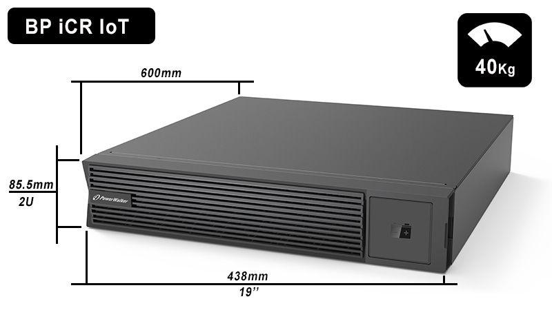 Battery Pack 12x9Ah PowerWalker BP 10134054 wymiary i waga