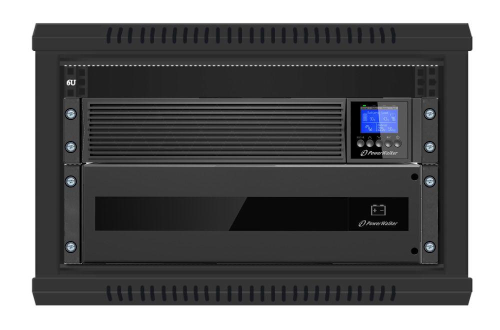Zasilacz UPS online 6kVA/6kW VFI 6000 ICR IoT PF1 PowerWalker RACK