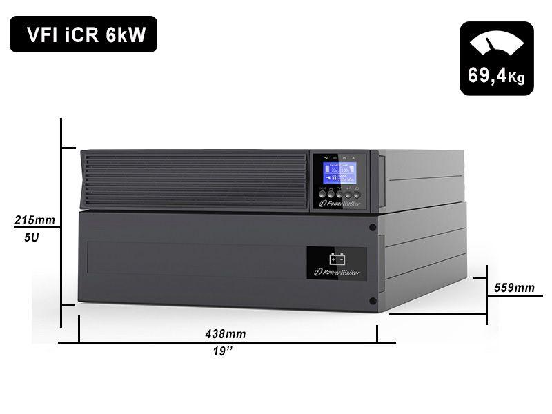 VFI 6000 iCR IoT PowerWalker wymiary i waga