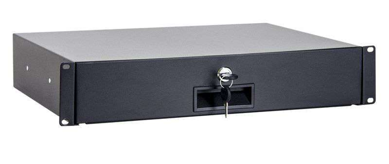 2U / 338mm - Szuflada do szaf RACK 19 CFS01-2-A LINKBASIC czarna RAL9004