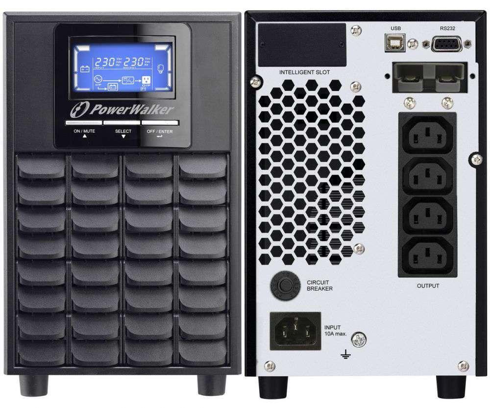 Zasilacz UPS online 2000VA/1600W VFI 2000 C LCD PowerWalker