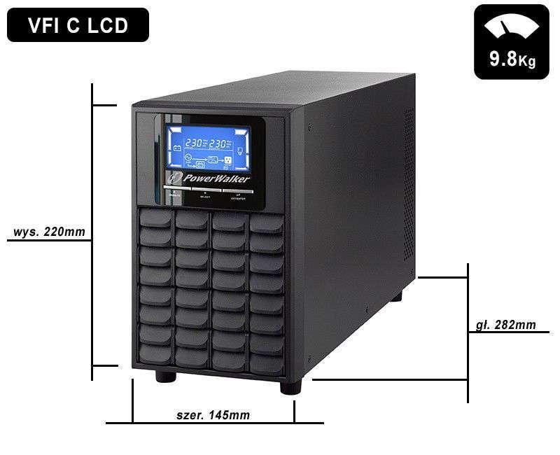 VFI 1000 C LCD PowerWalker wymiary i waga