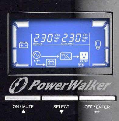 PowerWalker VFI 1000 C LCD wyświetlacz LCD