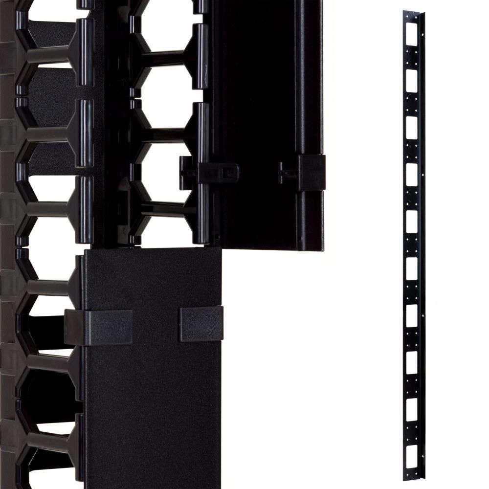 Organizer kabli 47U pionowy CFK02-47-A Linkbasic czarny RAL9004