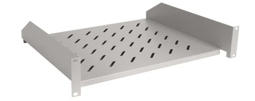 2U / 430mm - Uniwersalna półka CFF80-1.5-B LINKBASIC szara RAL7044