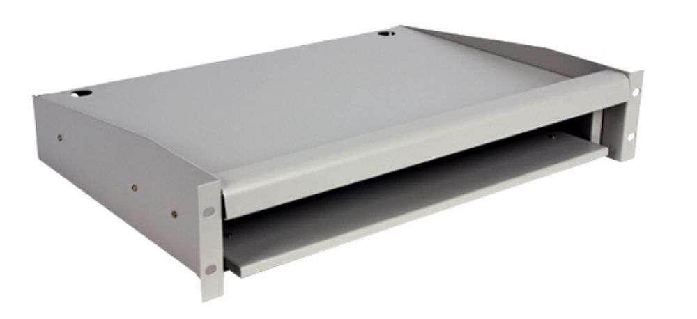 Wysuwana półka pod monitor i klawiaturę CFE60-B LINKBASIC szara RAL7044