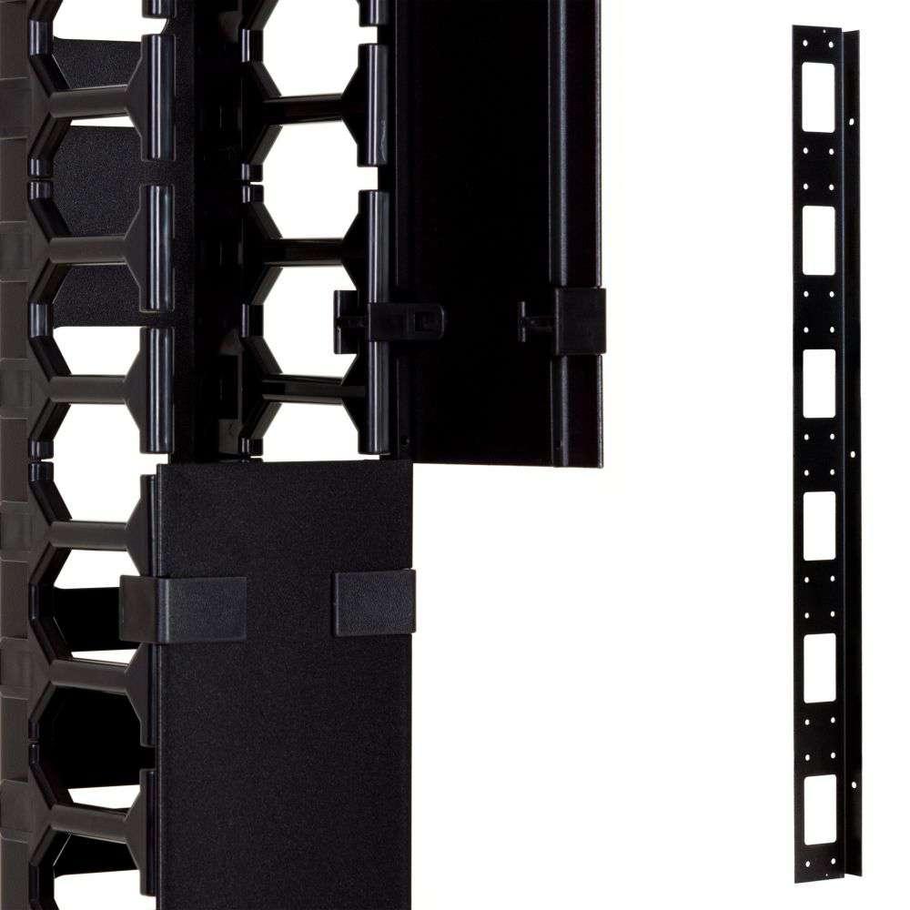 Organizer kabli 27U pionowy CFK02-27-A Linkbasic czarny RAL9004