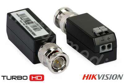 Transformator video HD-TVI Hikvision DS-1H18 z wtykiem BNC (2szt.)