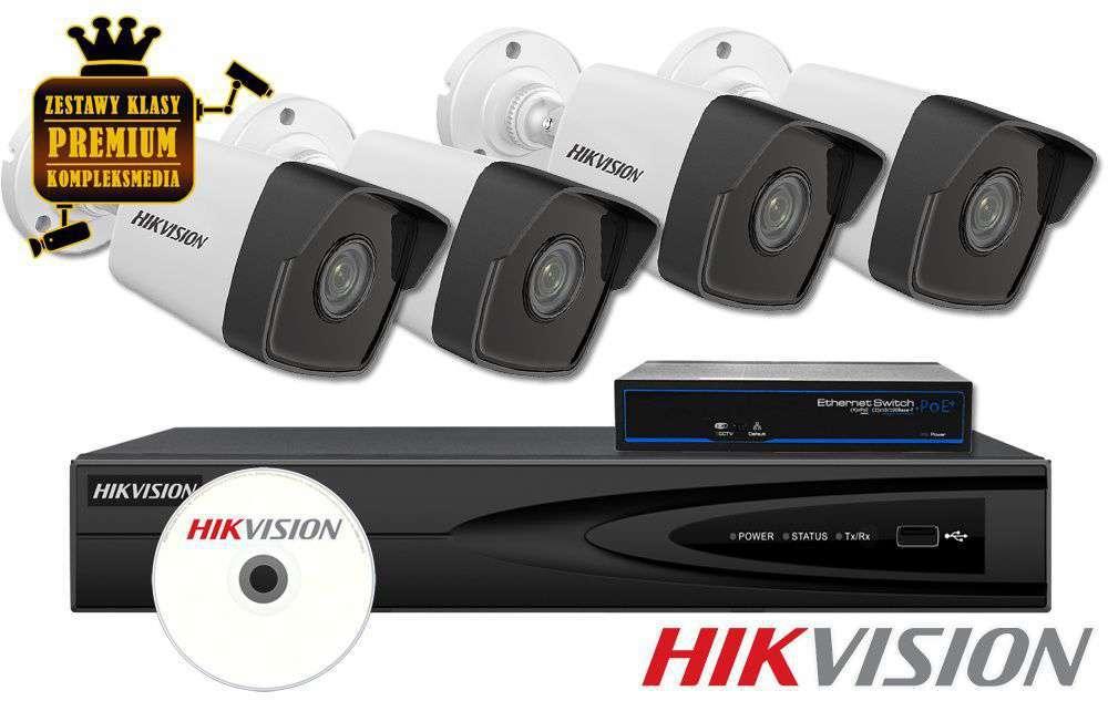 Zestaw do monitoringu IP ZMIP-HIK4KB20/IR30 (2MPX) HikVision