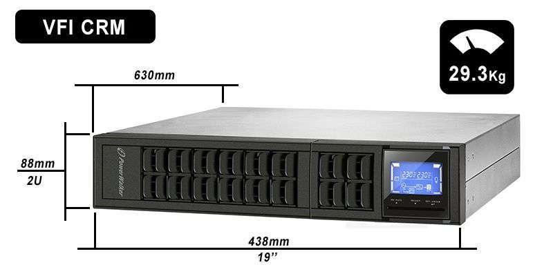 VFI 3000 CRM LCD PowerWalker wymiary i waga