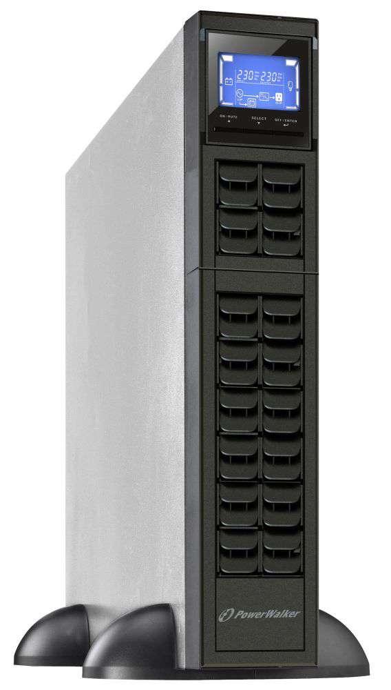 "Zasilacz UPS rack 19"" 3kVA/2.4kW VFI 3000 CRM LCD PowerWalker"