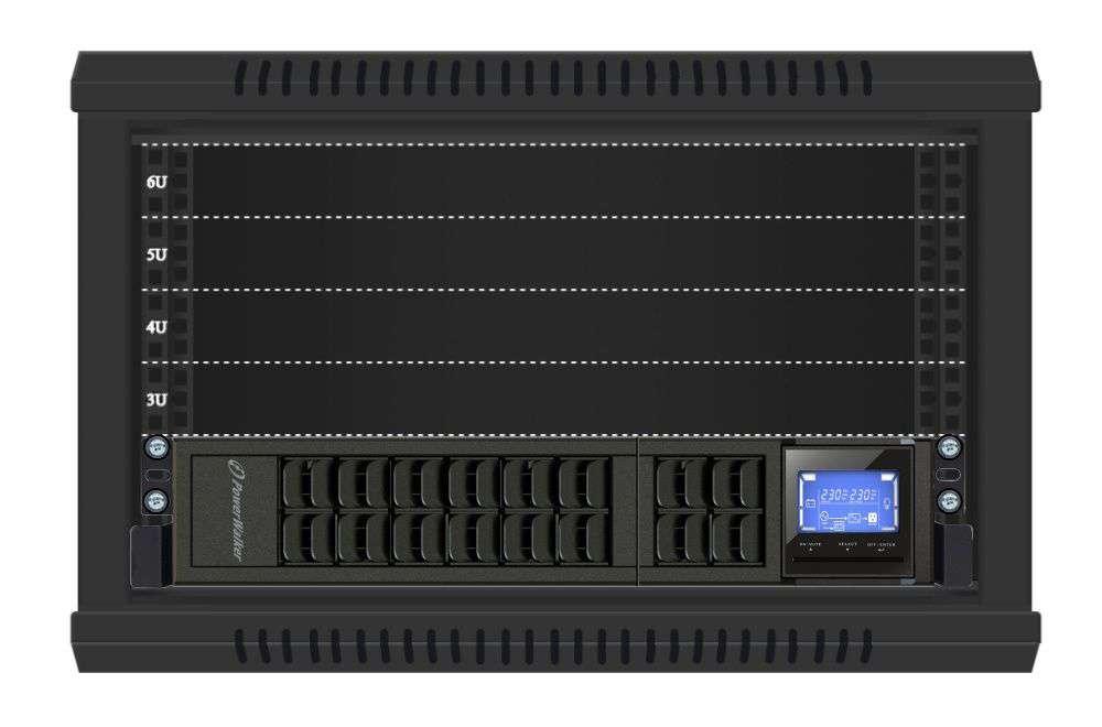 VFI 2000 CRM LCD PowerWalker montaż RACK