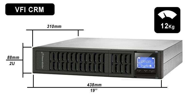 VFI 1000 CRM LCD PowerWalker wymiary i waga