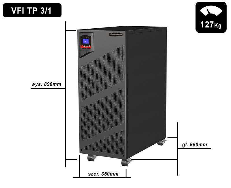 VFI 10000 TP 3/1 PowerWalker wymiary i waga