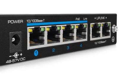 6 portowy switch PoE/PoE+ do kamer IP