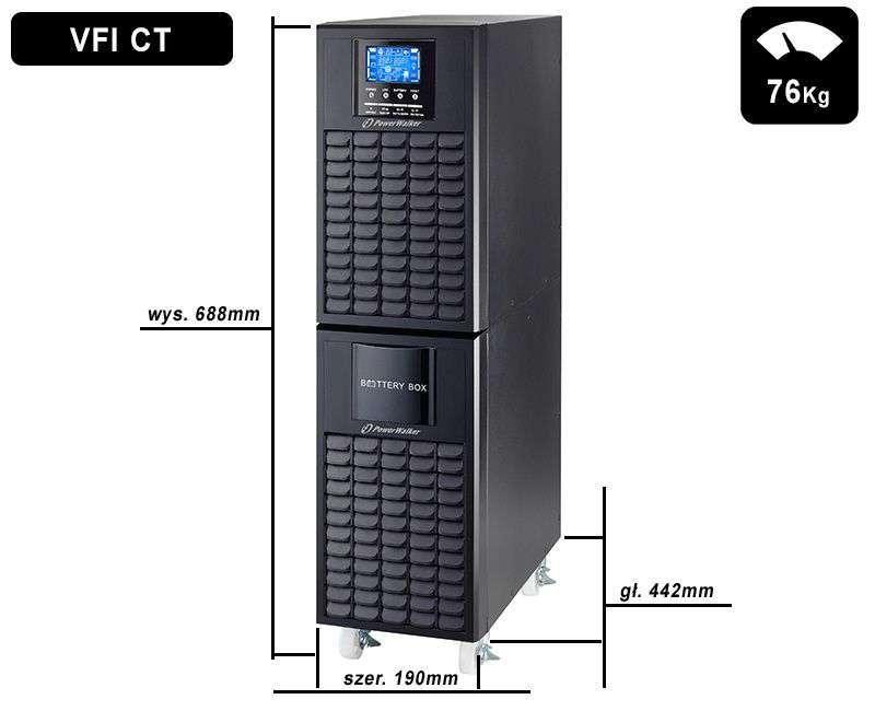 VFI 10000 CT LCD PowerWalker wymiary i waga