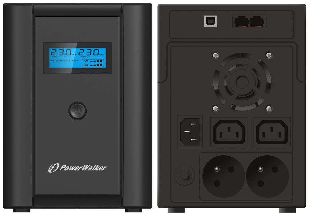 Zasilacz UPS awaryjny 2200VA/1200W VI 2200 SHL FR PowerWalker