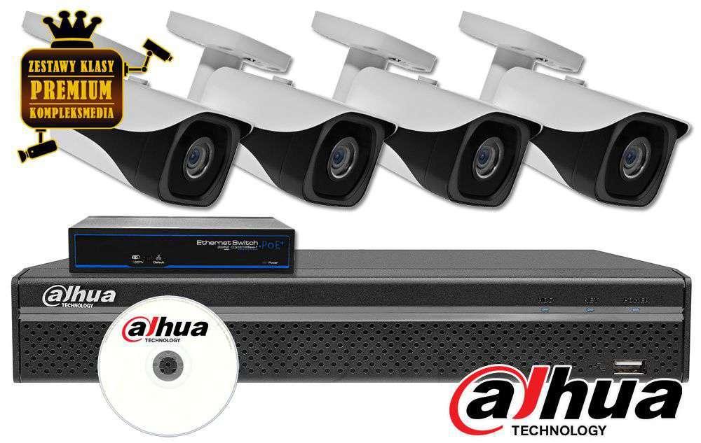 Zestaw do monitoringu IP ZMIP-DAH4KB20/IR40 (2MPX) DAHUA