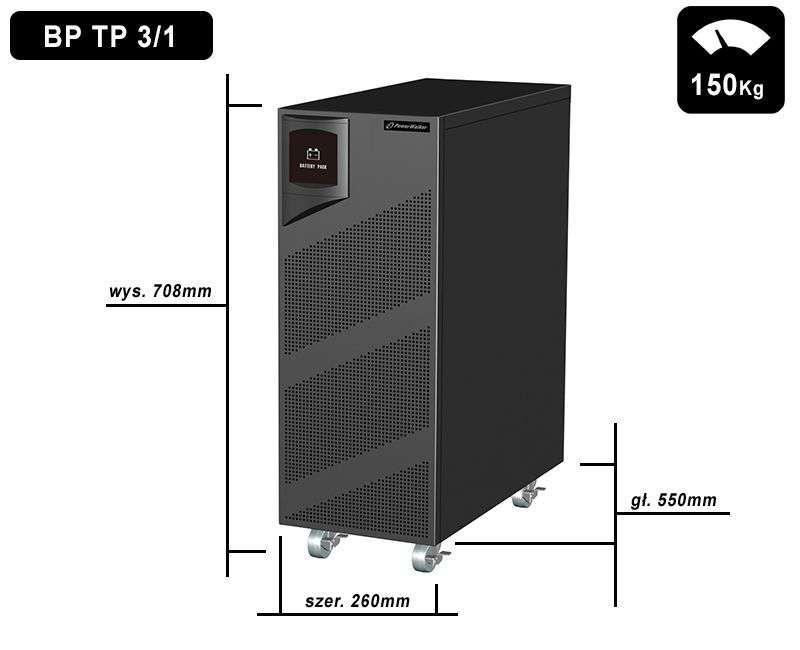 Battery Pack T288T-48x9Ah PowerWalker BP 10120559 wymiary i waga