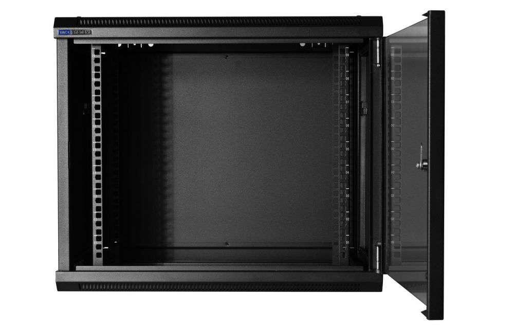 Szafa rackowa RACKSYSTEMS W6409 szklana czarna